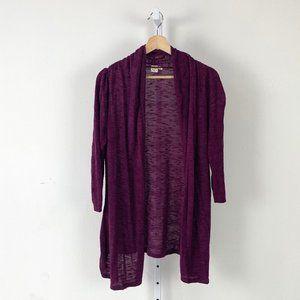 Anthropologie Open Cardigan Sweater Slub Knit M
